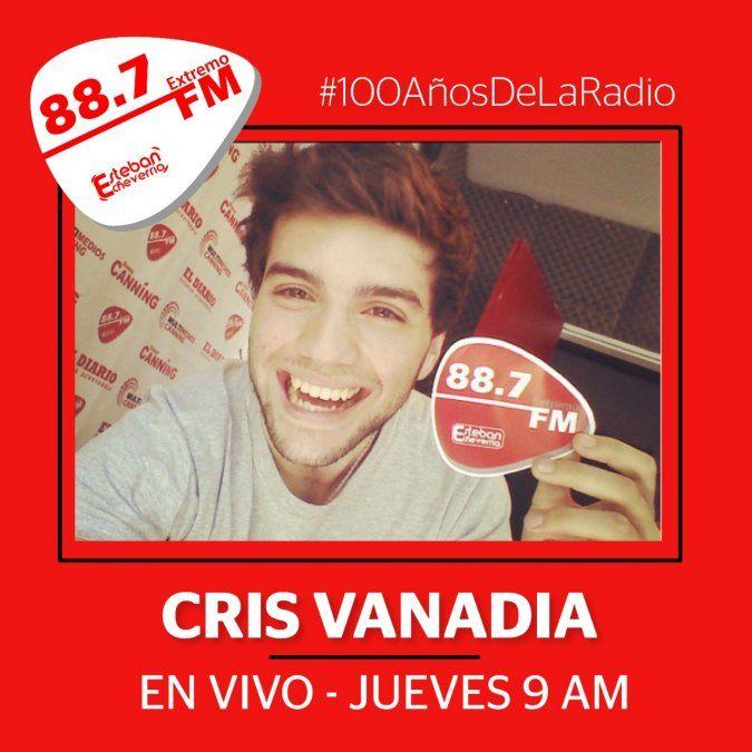100 años de la radio. Cris Vanadia en Extremo FM 88